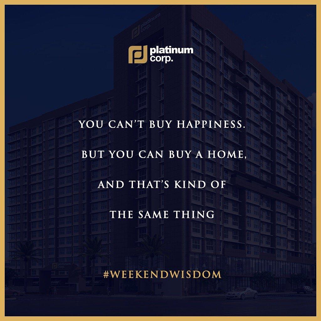 Happiness can be bought with Platinum Corp.  #WeekendWisdom   #PlatinumCorp #PlatinumLife  #Lifestyle #Mumbai #RealEstate #Andheri #Residential #Property #Luxury #Homes #Views #Decor #Design #Interior #InteriorDesign #HomeDecor #Happiness #KanganaRanaut #Luxuryhomes #Luxury #Home