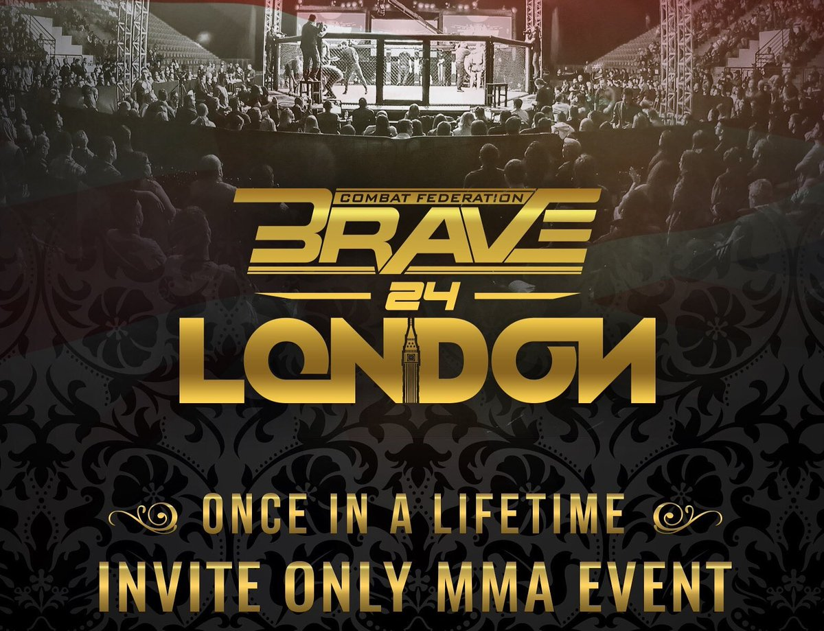 An action packed fight card is in store for those lucky enough to be in attendance at @bravemmaf 24 London! Looking forward to taking my seat cage side and calling this incredible night of mixed martial arts alongside @KirikJenness and Phil Campbell. #BraveCF24🏴