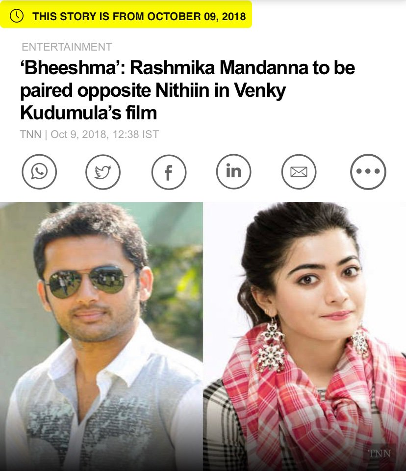 Rashmikausafc On Twitter The First Clap On The Clapperboard For Queen Iamrashmika S Bheeshma Rashmikamandanna