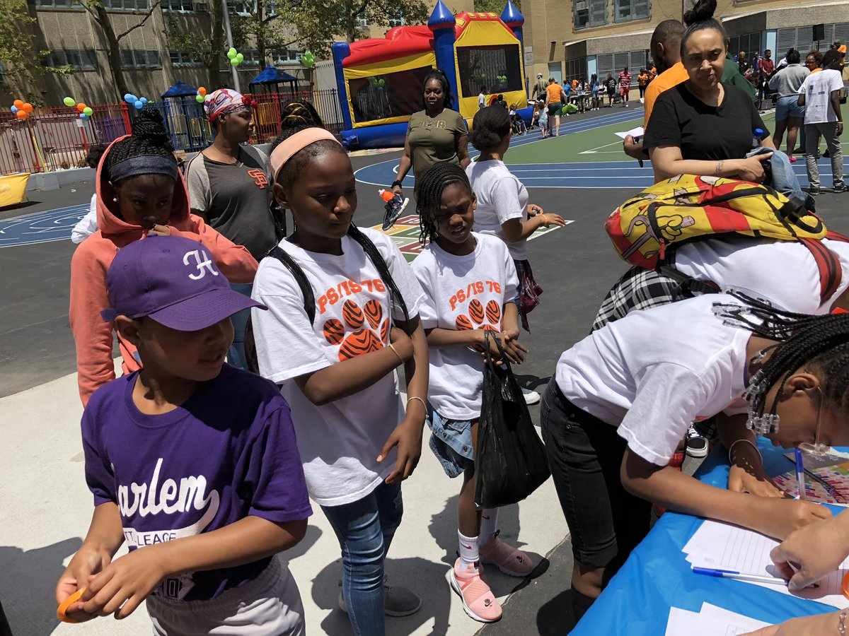 Great day for @NycDistrict3 and  @CSD_4 at the Harlem and El Barrio School Stroll!! @MRosalesMBO and @galeabrewer are here representing as well!!!
