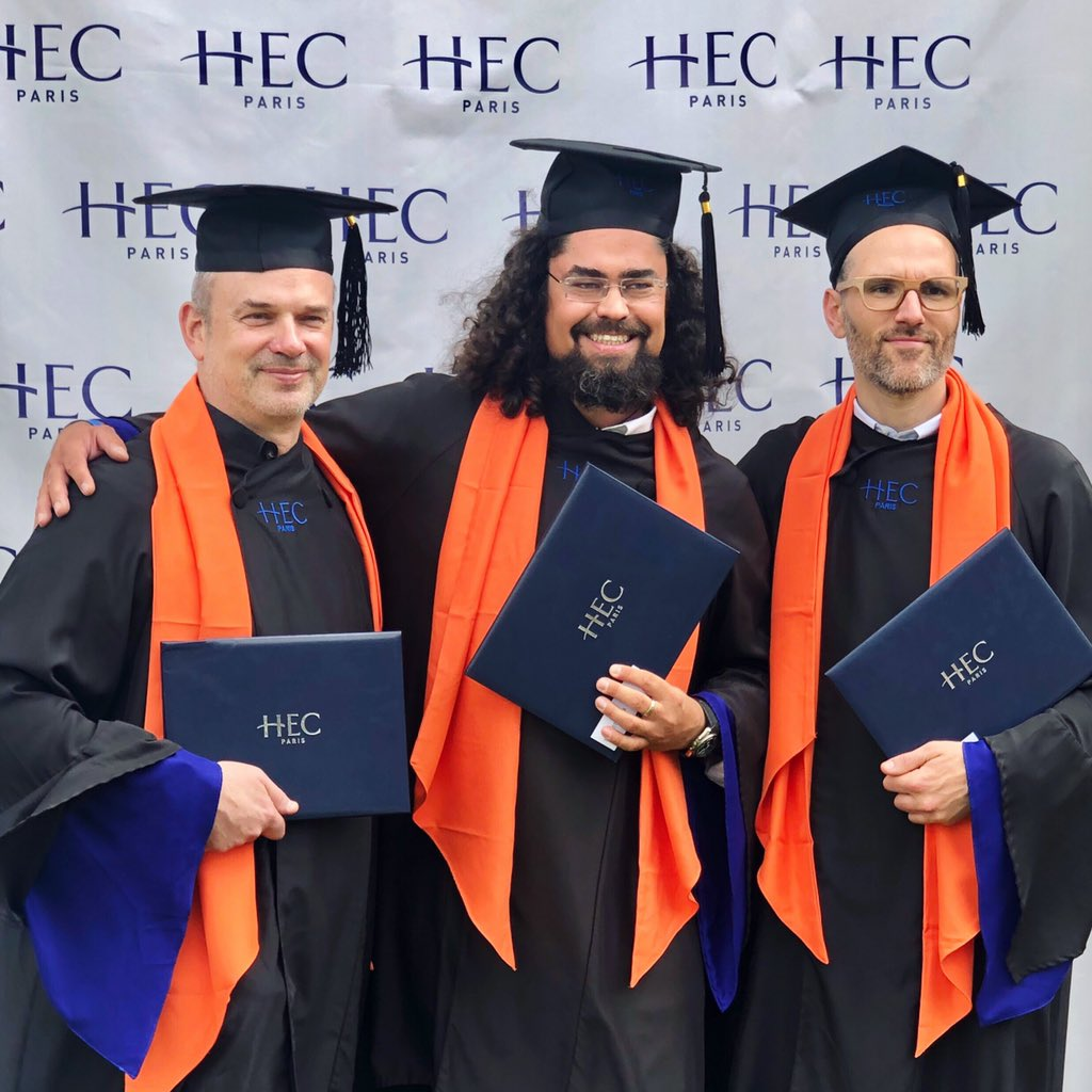 MSc in Innovation with my Team mates at Commencement Day at @HECParis – at HEC Paris