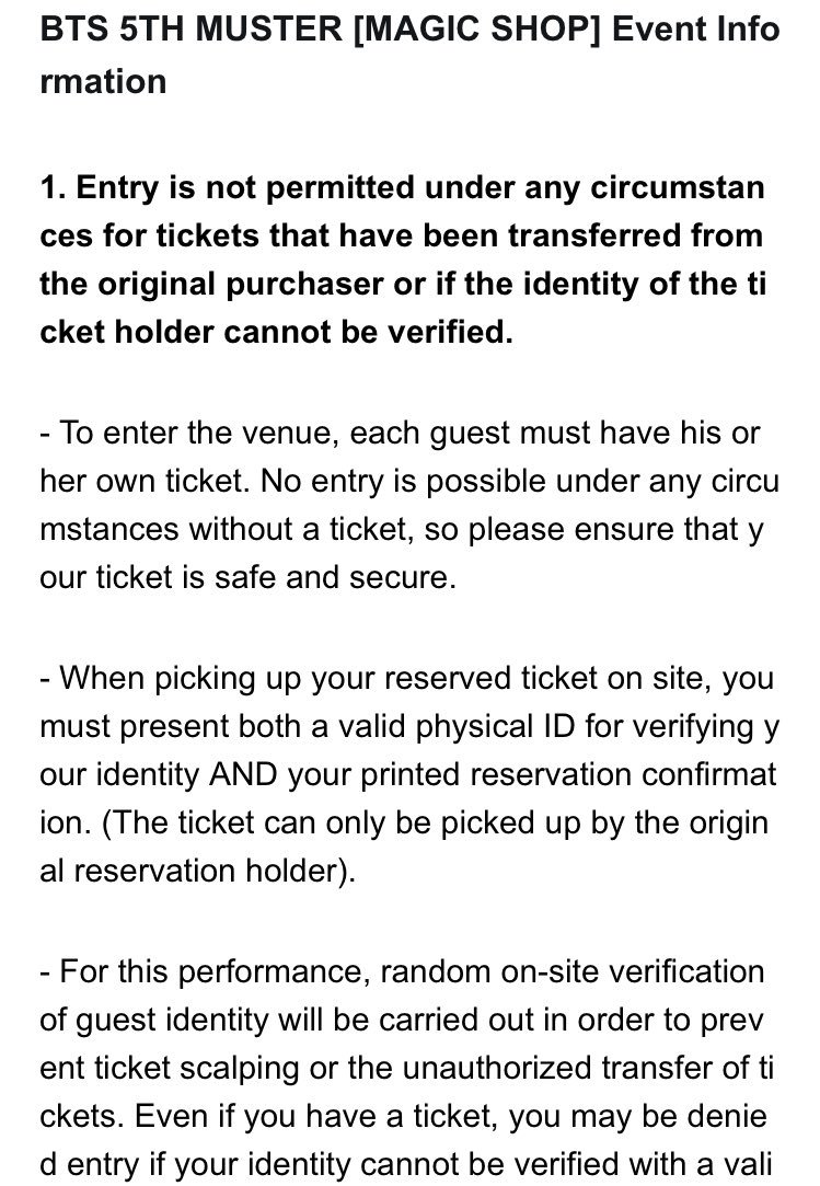 5TH MUSTER event information @BTS_twt