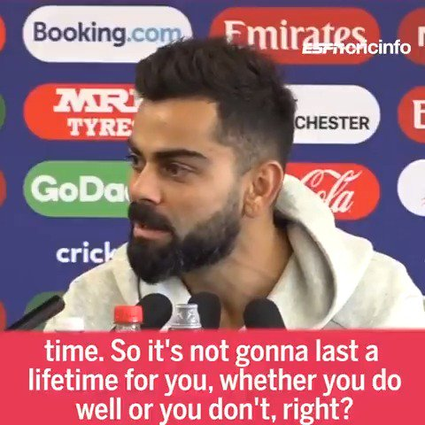 Why do players keep saying #INDvPAK is just another game? Virat Kohli with an elaborate explanation 🔽 es.pn/2Xhn6I4 #CWC19