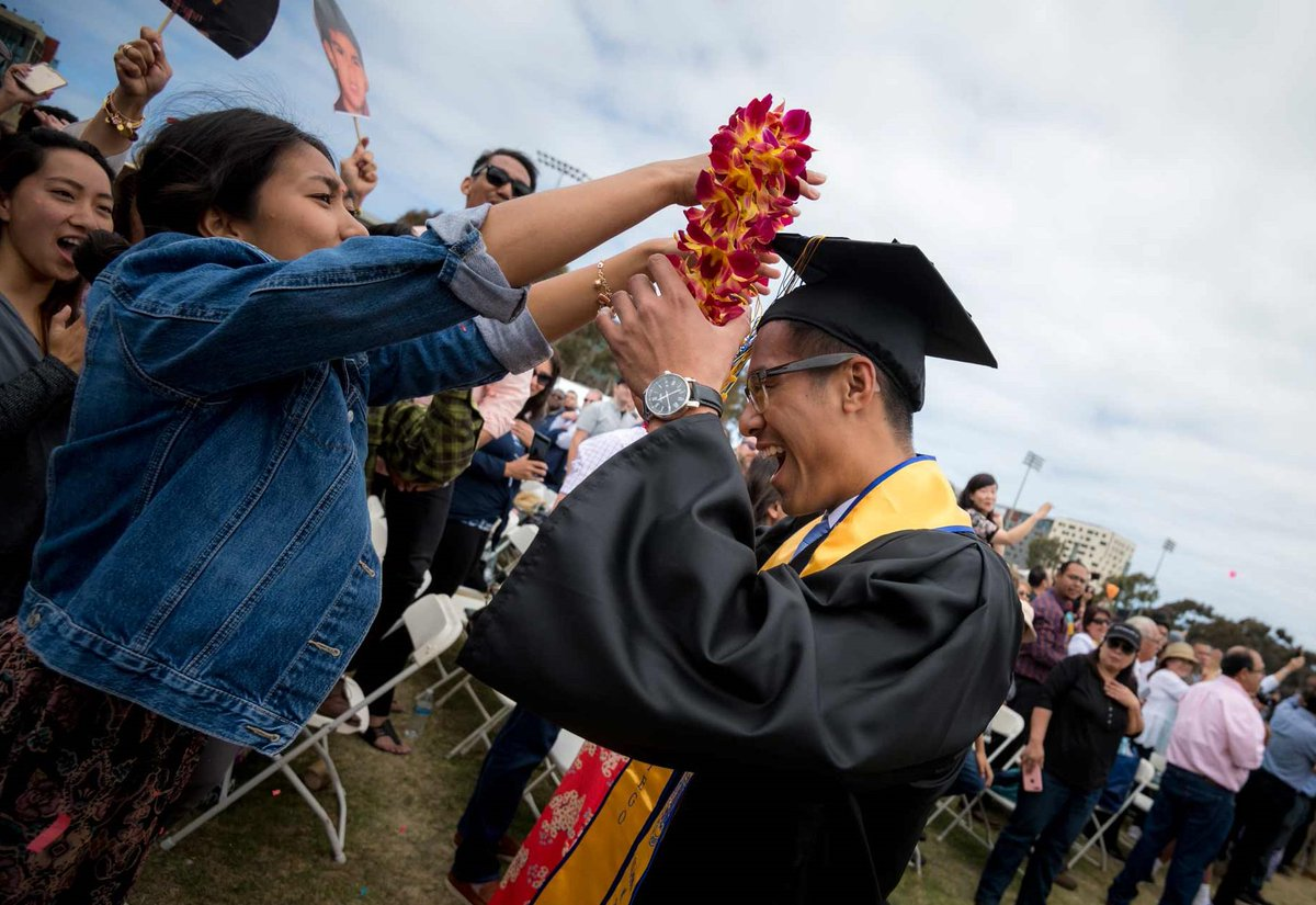 """""""As you graduate today, remember that this is your university. You have been, and will continue to be, an important part of UC San Diego"""" - Chancellor Pradeep K. Khosla confers degrees on the Class of 2019 #ucsd2019 #TritonGrad"""