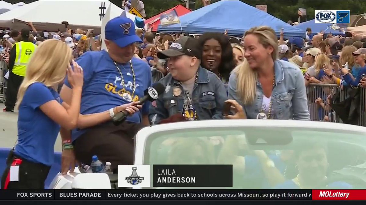 Laila Anderson was stunned when she found out shed been invited to participate in todays parade: I actually thought my mom was pulling a prank on me. #stlblues