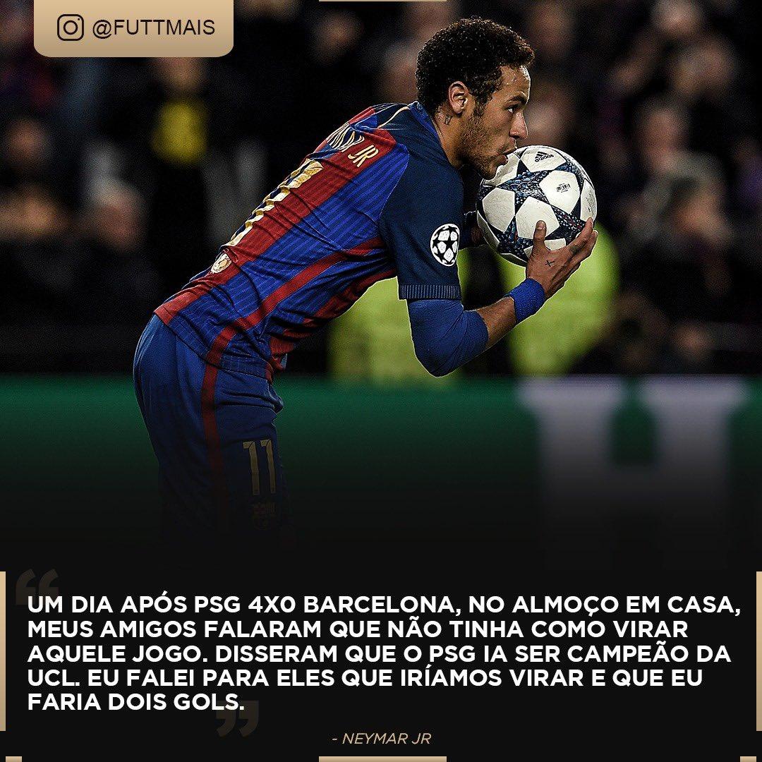Você lembra do dia em que Neymar levou o Barça nas costas contra o PSG? Temos esse e mais conteúdos no nosso Instagram. Segue o menino fut la: instagram.com/Futtmais