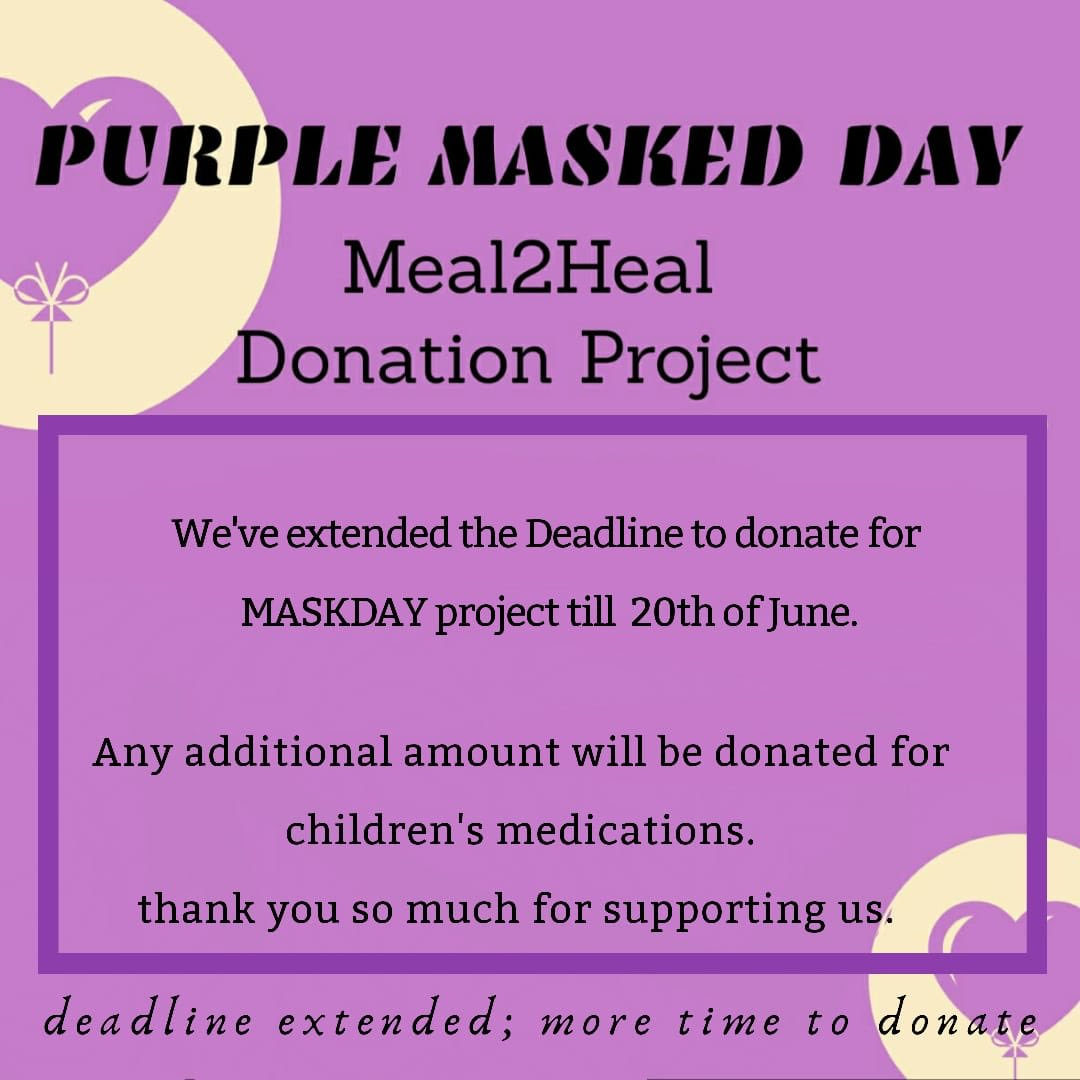 | Meal2Heal Donation project | Please note that we have extended the deadline and won't accept donations after 20th of June ☺️💜 Thank you so much for your support... @BTS_twt #BTS #방탄소년단 #6YearsWithBTSOurHome #purplemaskday