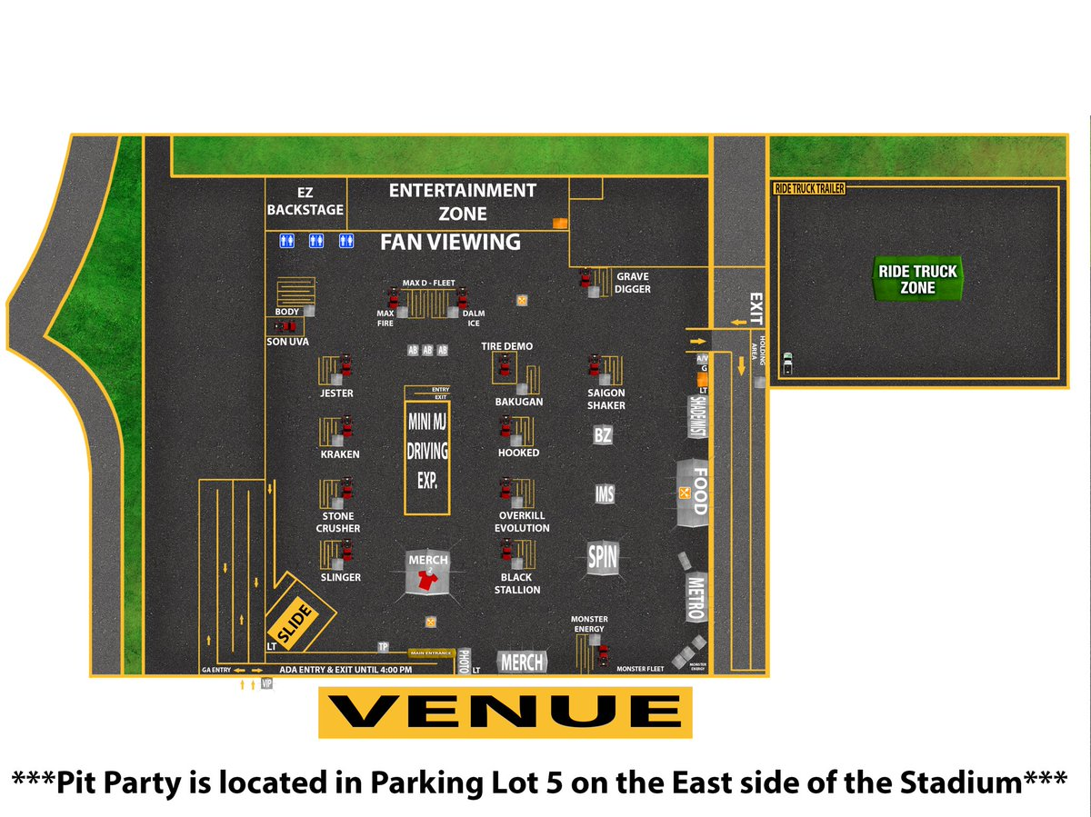 #Foxborough fans! Heading to the Pit Party @GilletteStadium? Check out the Pit Party map!