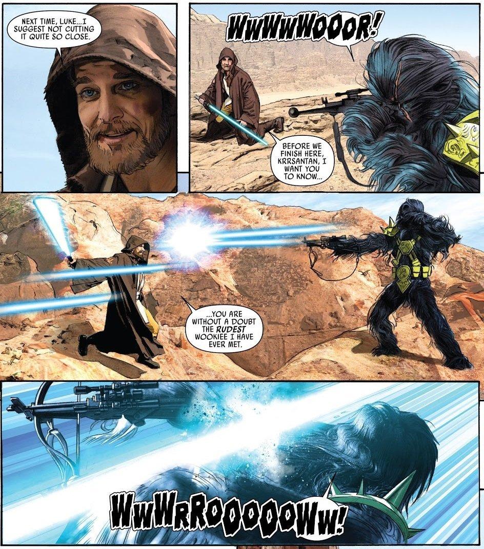 "All Things Kenobi on Twitter: ""Black Krrsantan was a bounty hunter that Jabba sent for Obi-Wan on Tatooine… """