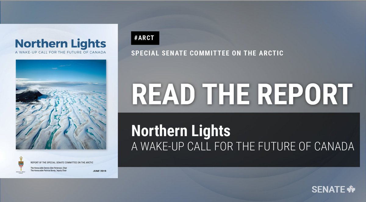 The Special Committee on the #Arctic spent a year studying the significant and rapid changes in Canada's North and impacts on original inhabitants, finding that #Indigenous youth (the Arctic's greatest asset) were hit the hardest by federal underinvestment @SenPatBovey @SenateCA