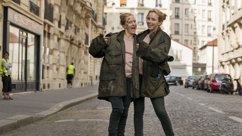 Its not all doom and gloom being the stunt double for a psychopath... #KillingEve is back tonight | 9:15 PM | @BBCOne & @BBCiPlayer. 👉 bbc.in/2WKRAhy