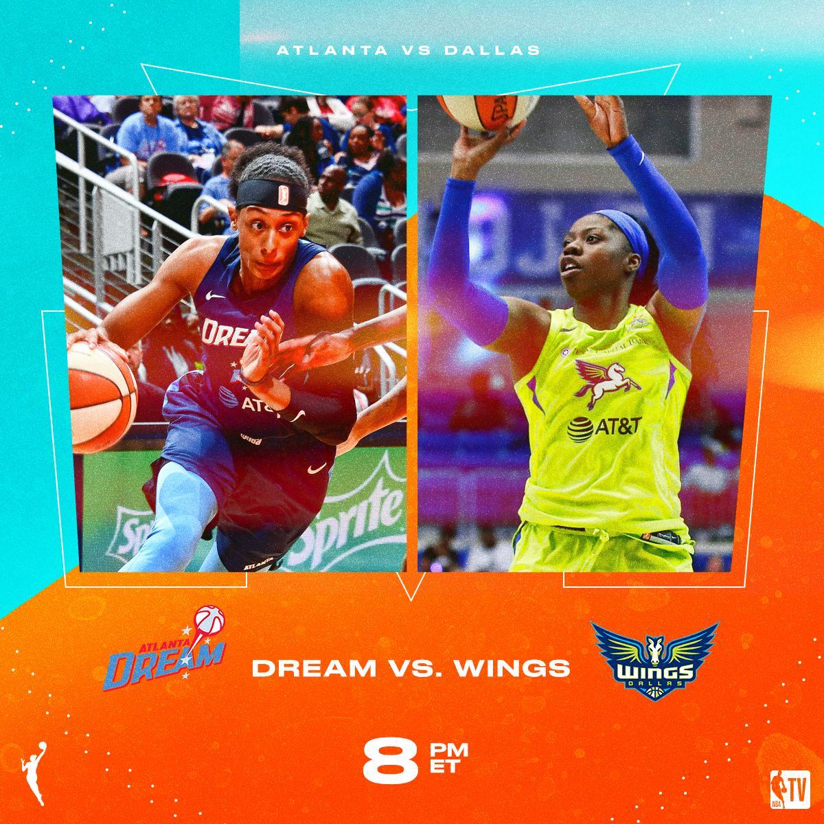 Catch some @WNBA action tonight on NBA TV!  @AtlantaDream vs. @DallasWings // 8pm ET @nyliberty vs. @LA_Sparks // 10pm ET