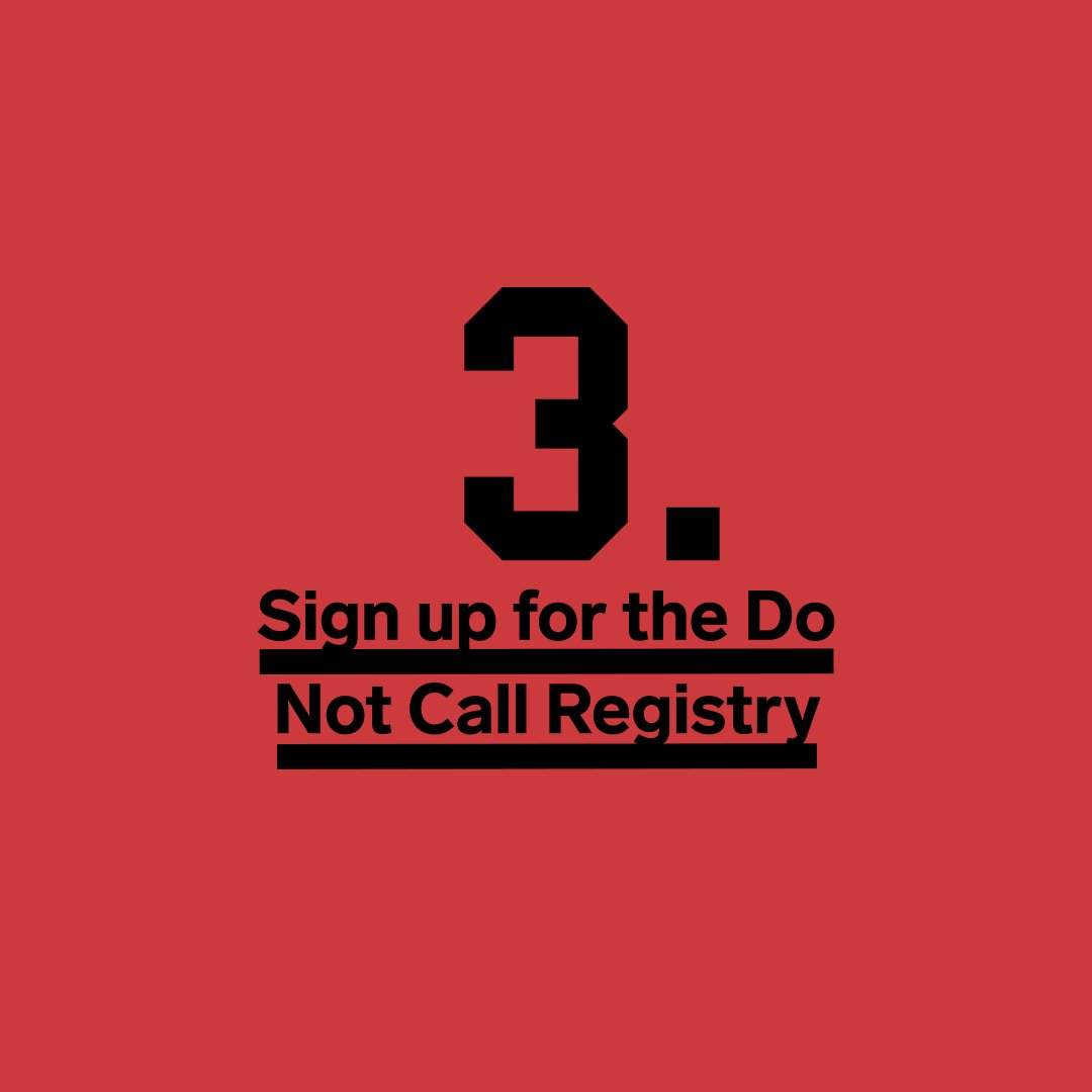 This one's easy. The FTC's National Do Not Call Registry only focuses on telemarketing calls, but it can't hurt. Just go to http://donotcall.gov 4/ https://wired.trib.al/KMiwS05
