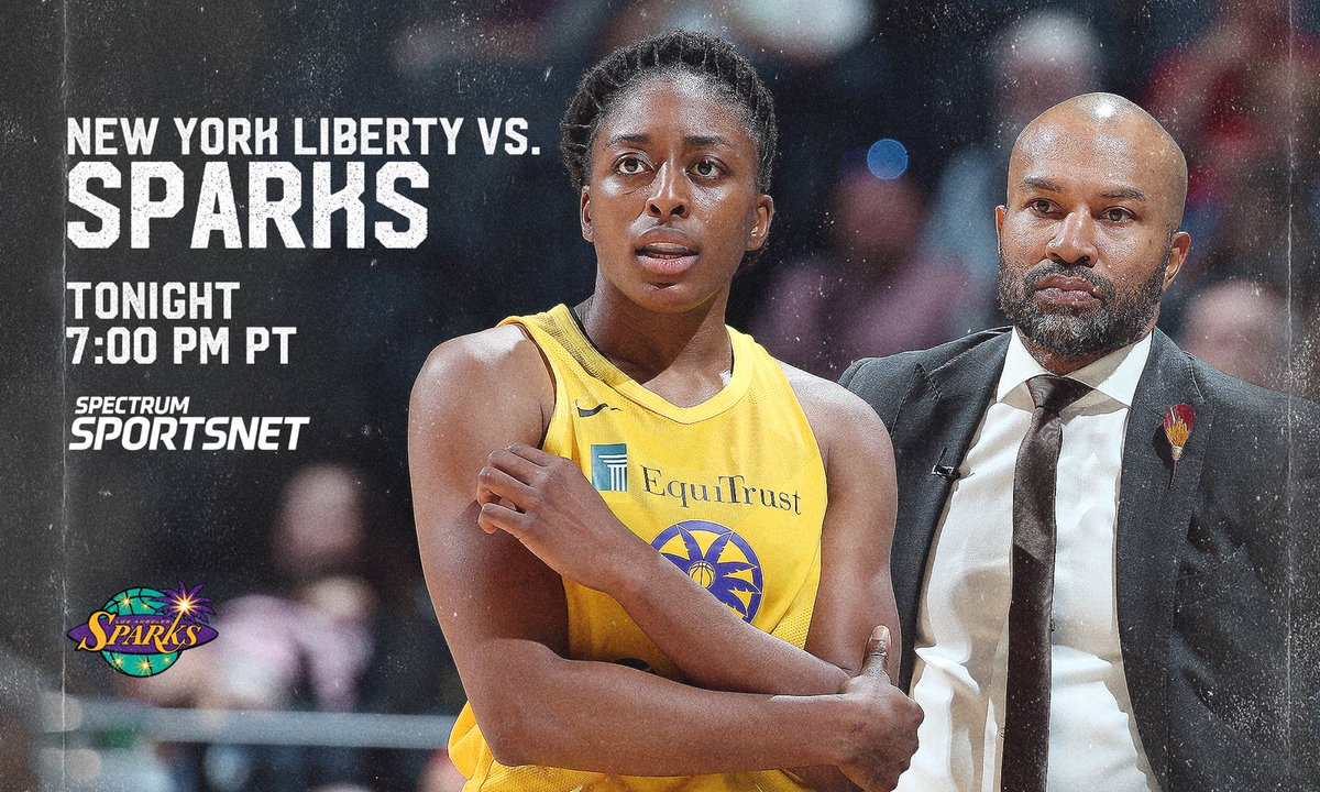 The @LA_Sparks look to make it three in a row when they face the New York Liberty at 7 PM on Spectrum SportsNet. 🏀