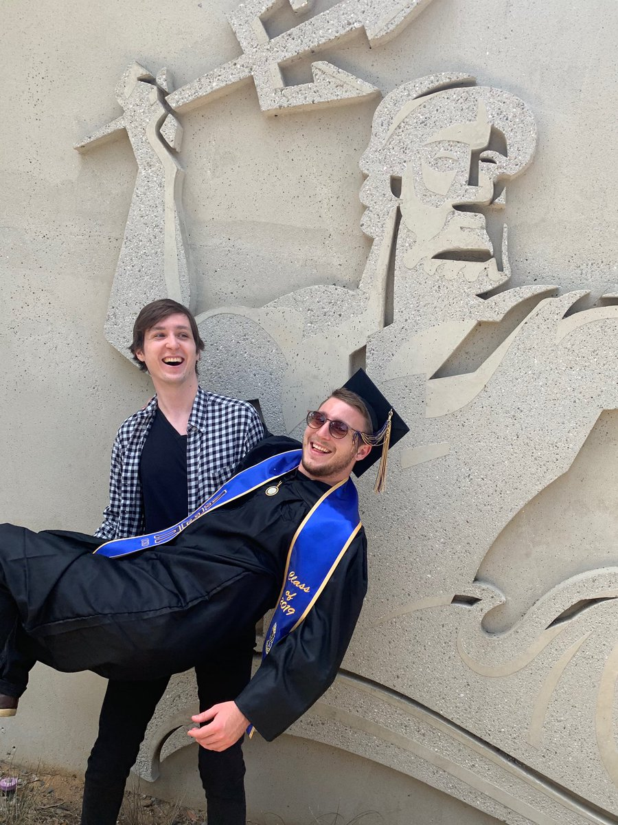 Congrats to my favorite (and only) brother @svederni for graduating from @UCSanDiego! #classof2019 #tritons