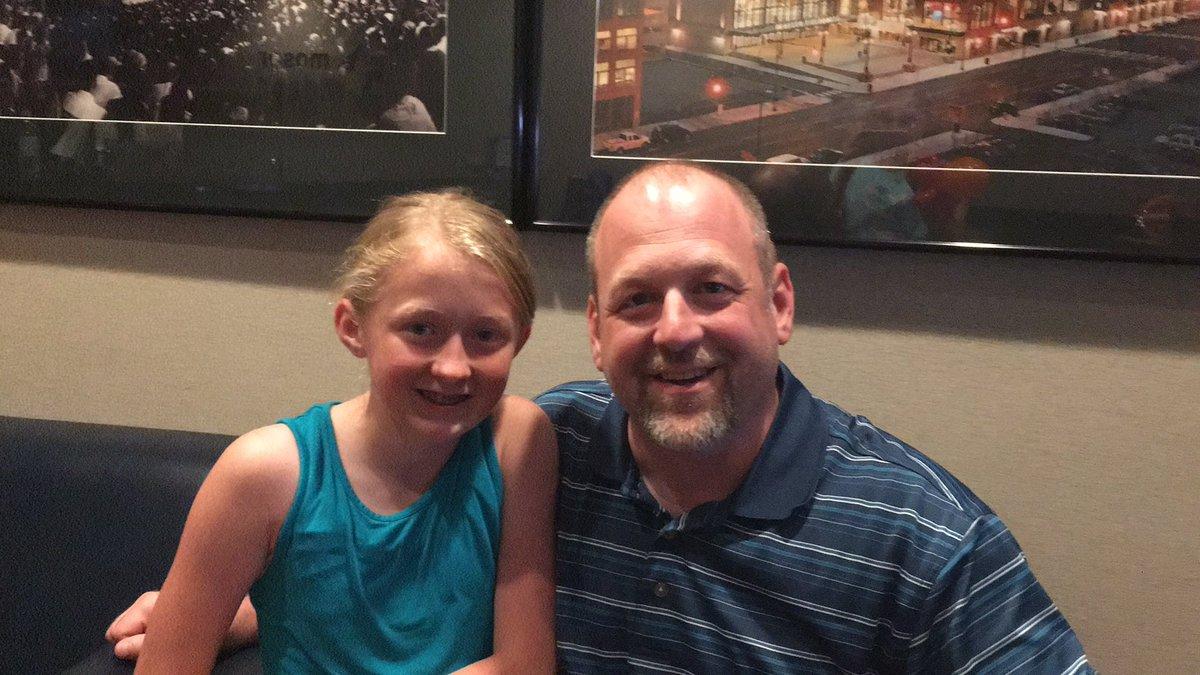 #fevergamenight Morgan and I enjoying the #IndianaFever game!