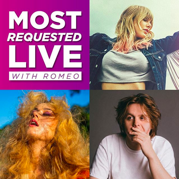 WE ARE LIVE! #MostRequestedLive is taking over your radios to play those requests all. night. LONG! Not to mention @OnAirRomeo is going to talk with @katyperry and @LewisCapaldi!  You might even snag a trip to #NYC to see @taylorswift13! Get those requests in now! <br>http://pic.twitter.com/PYd5Qp38iM