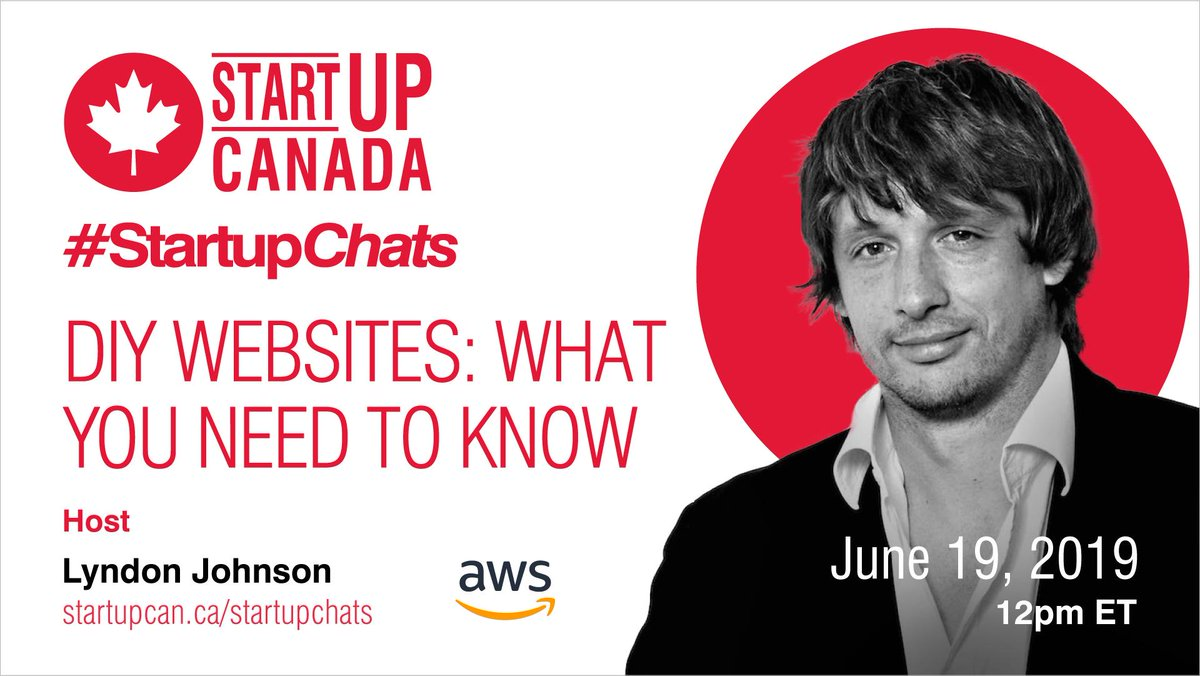 Want to learn all about DIY websites? Join #StartupChats w/ @awscloud to learn DIY Websites: What you Need to Know on June 19th! http://ow.ly/1WnG50ulDDy #websites #websitebuilding #aws