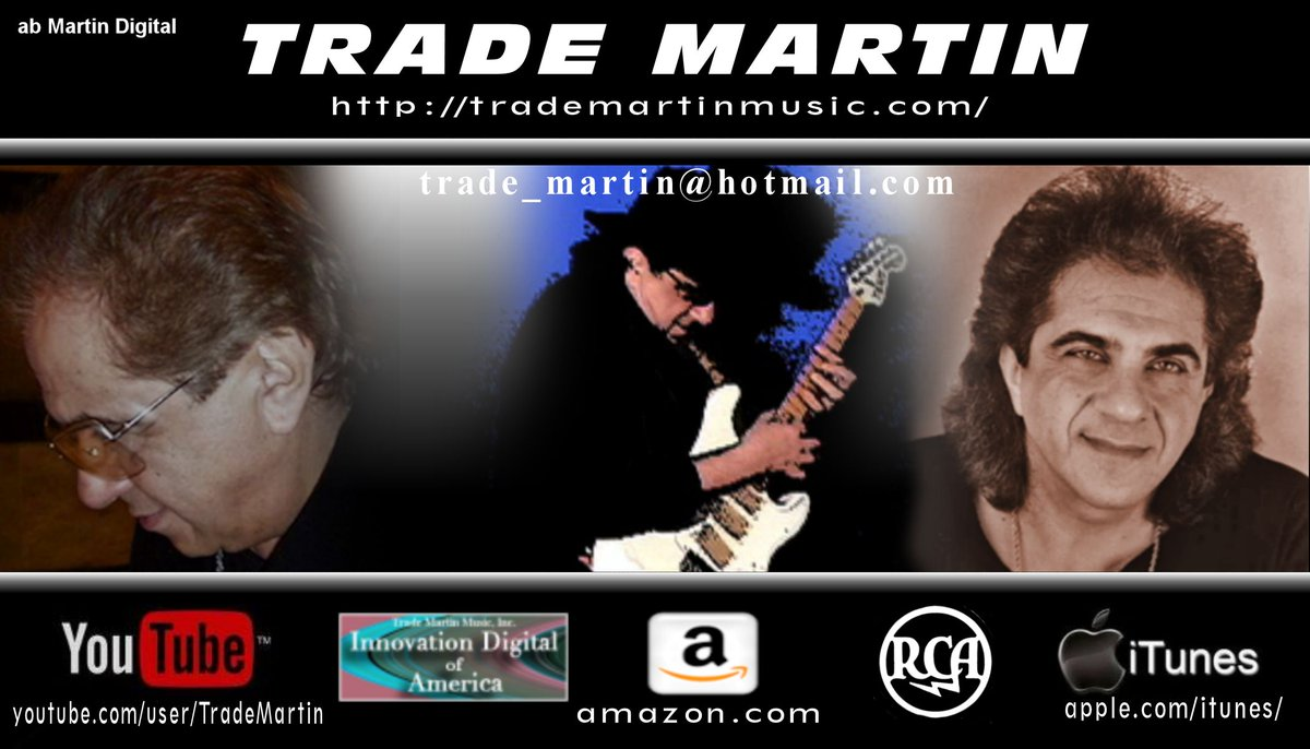 .Trade Martin Official Utube http://www.youtube.com/user/TradeMartin… #trademartin #abMartindigital #Grammywinner #songwriter #Amazon #iTunes #Pandora #Spotify #AppleMusic