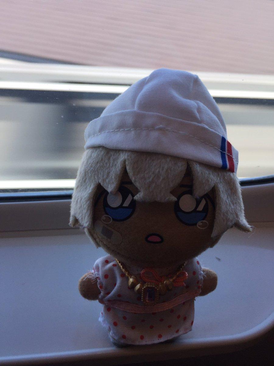 #あむぬい #ぬいすたぐらむ    #東京ぬい旅    今日は東京はあついらしいので、お帽子をかぶっていきます。