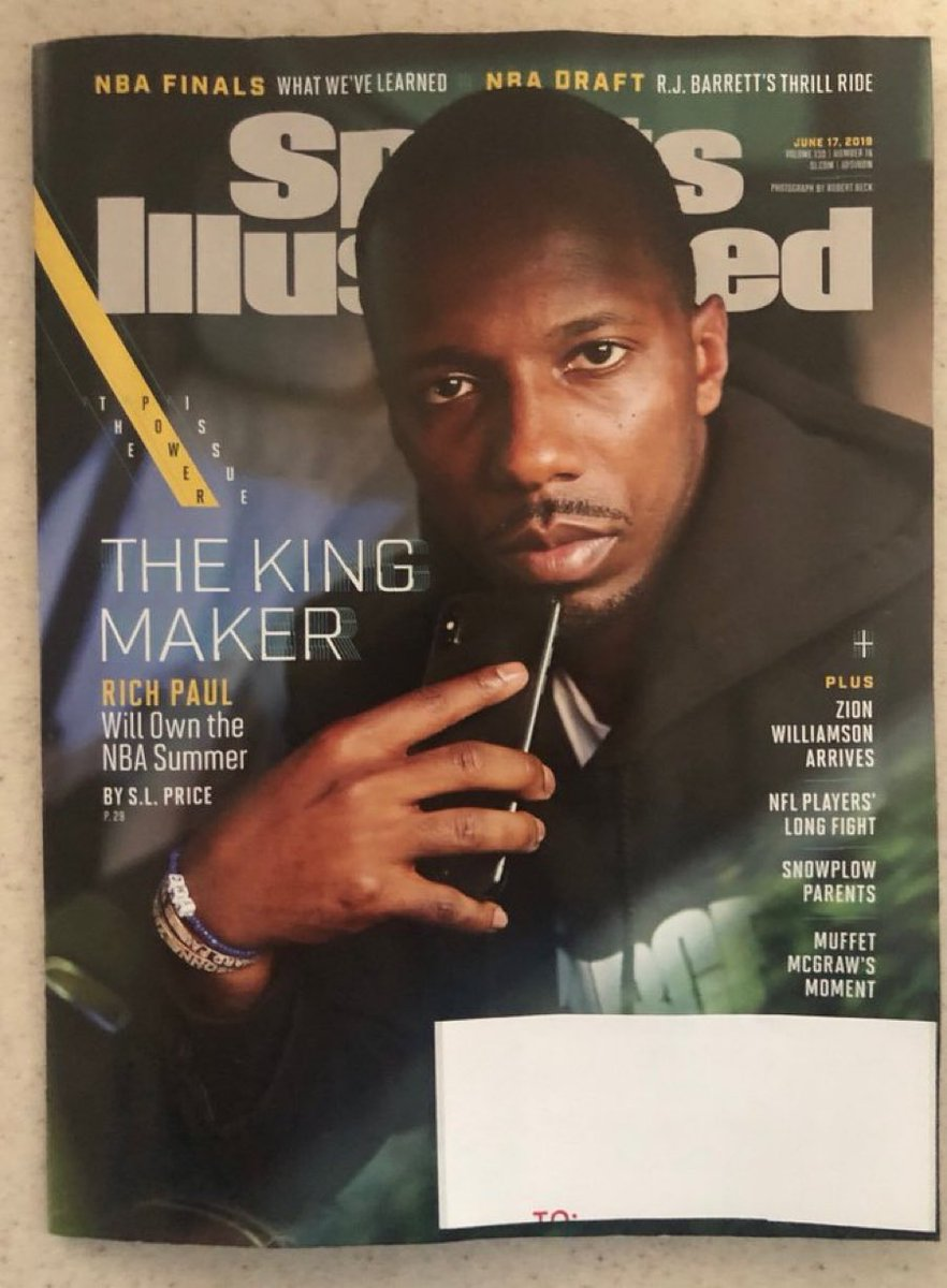 Rich Paul got it done for his client Anthony Davis. I didn't hear all this complaining about agents when Arn Tellem and David Falk we're running the league like Bumpy Johnson and Frank Lucas...💯 @KlutchSports