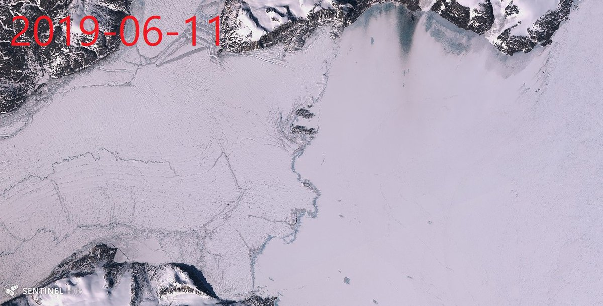 Big changes near Nioghalvfjerdsfjordens calving front are alarming. Blue ice, hot air, hot water, less snow, hotter ice, low albedo. Beautiful pictures... Same anomalous heat at Jakobshavn Glacier, Petermann Glacier, Zachariae Isstrom, Kangerlussuaq glacier & Helheim Glacier.