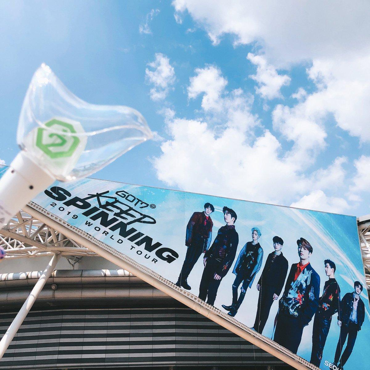 ตารางงาน GOT7 16 มิ.ย. เวลาไทย  15:00 น : GOT7 2019 WORLD TOUR 'KEEP SPINNING' IN SEOUL Day2 at KSPO Dome  #GOT7  #갓세븐  #GOT7WORLDTOUR  #GOT7_KEEPSPINNING   #GOT7_SPINNINGTOP <br>http://pic.twitter.com/LbLdxw7o2D