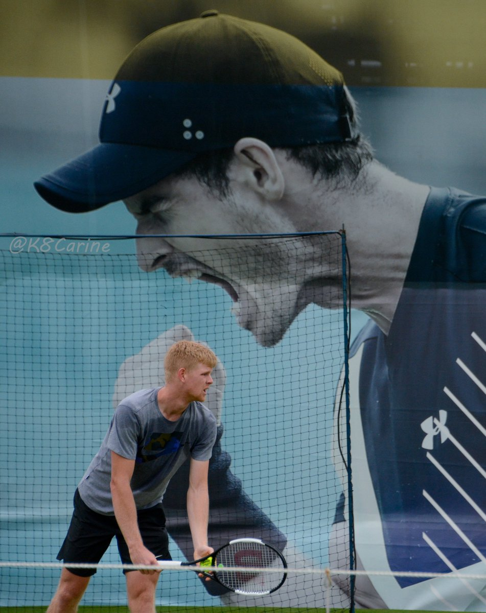 Andy – please don't eat Kyle!  #QueensTennis #AndyMurray #KyleEdmund<br>http://pic.twitter.com/wozZt0bKW1