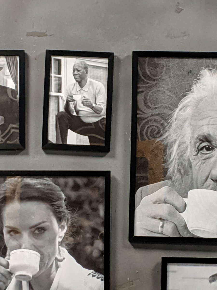 The adventures of @mrsnicebucket and me: At Uncle Tea Me: Damn they have a picture of almost everyone drinking tea. S: Yea, they even have Nelson Mandela. Me: Where ? S: Right there, next to Albert Einstein. https://t.co/5b5b0EWTTq