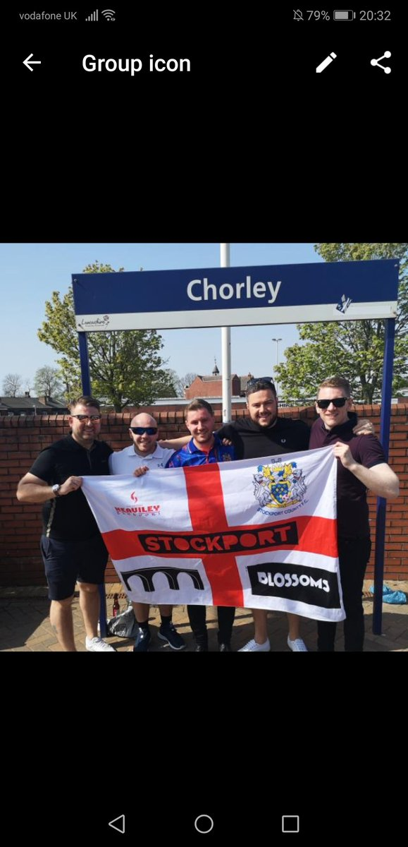 Can't believe it's a week today to the greatest night seen in Stockport for a long time!! The flag has been washed and is ready for action. @BlossomsBand at the home of @StockportCounty is going to be epic   #stockport #theresareasonwhy https://t.co/lo8u2GAOB3