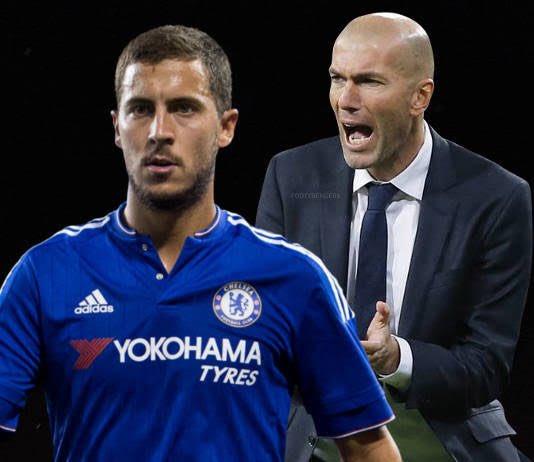 """""""Comecei a ver futebol por causa dele (Zinédine Zidane). Vivia na Bélgica, mas torcia pela França por causa de Zidane. A primeira recordação foi quando Zidane fez aquele gol de voleio na final da Liga dos Campeões contra o Bayer Leverkusen."""" - Eden Hazard"""