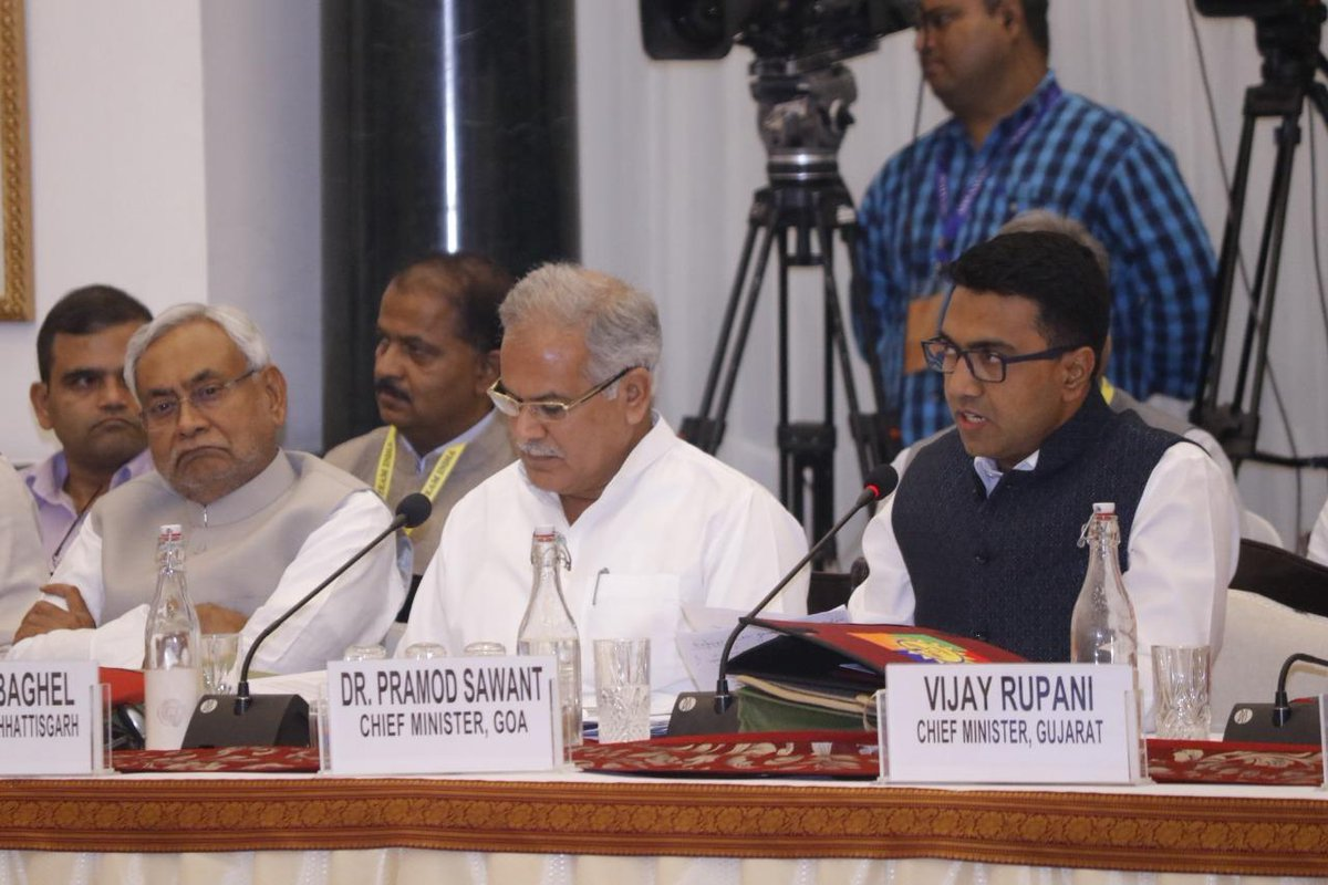 Rainwater harvesting is a major focus area in Goa. The State has focused on the blue revolution and is in process of formulating a community farming policy: #Goa CM @DrPramodPSawant at the #FifthGCM