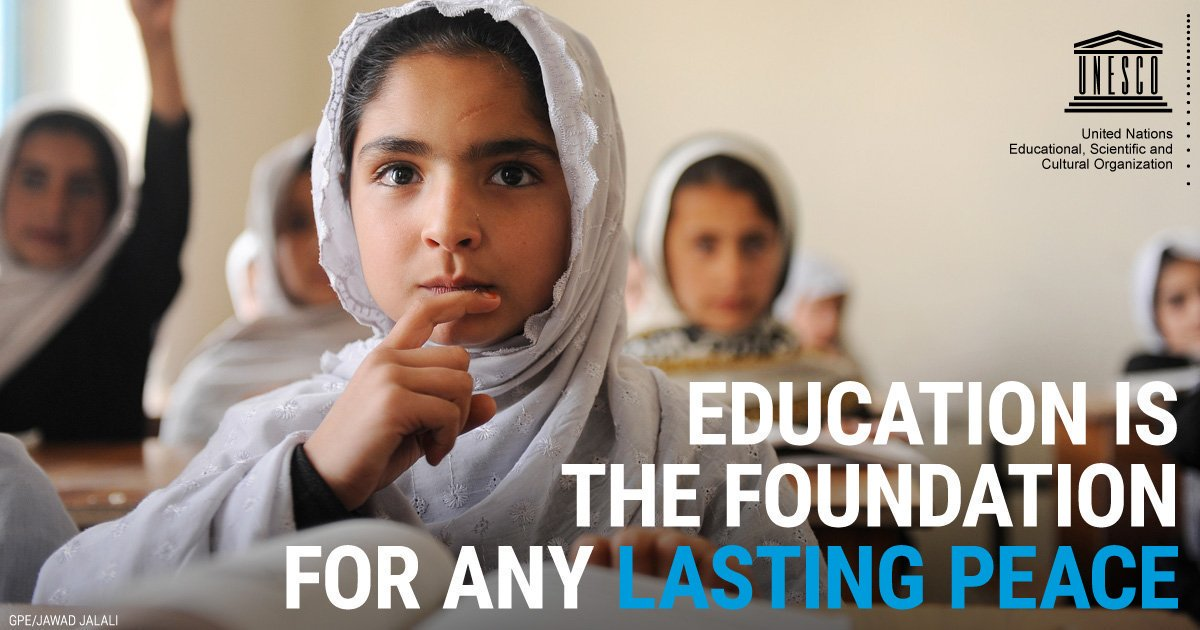 Education is at the heart of future generations' sustainable development. Every child has the right to quality, inclusive #education. v/@unesco