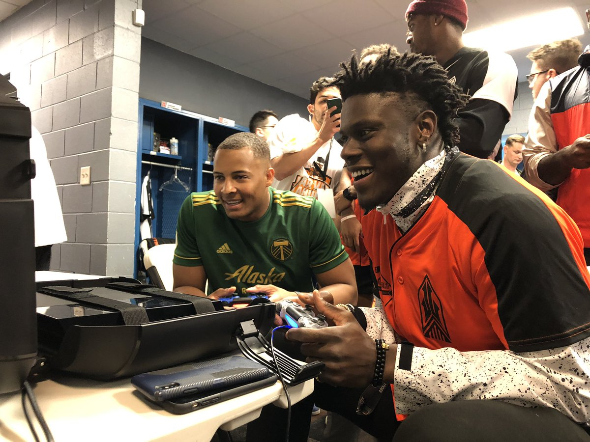Only one way to prep for the Jarvis Landry Celebrity Softball Game: a little @EAMaddenNFL