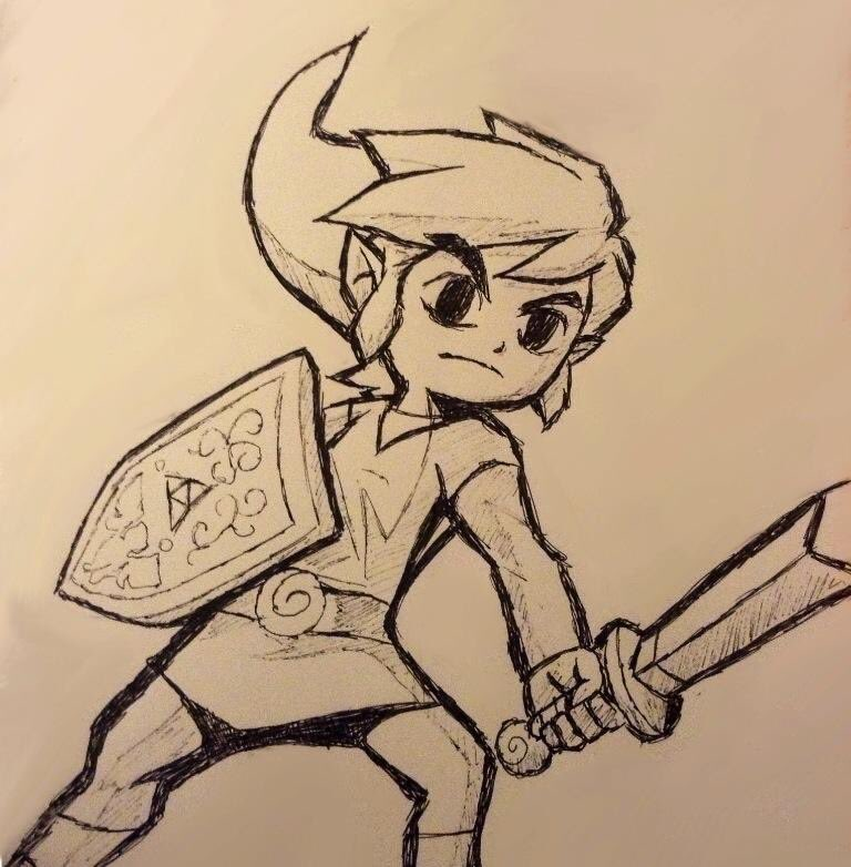 Drawing from 6 years ago! #art #zelda #drawing #nintendo #windwaker #2013 #fanart #throwback<br>http://pic.twitter.com/GqbPZVGzUk
