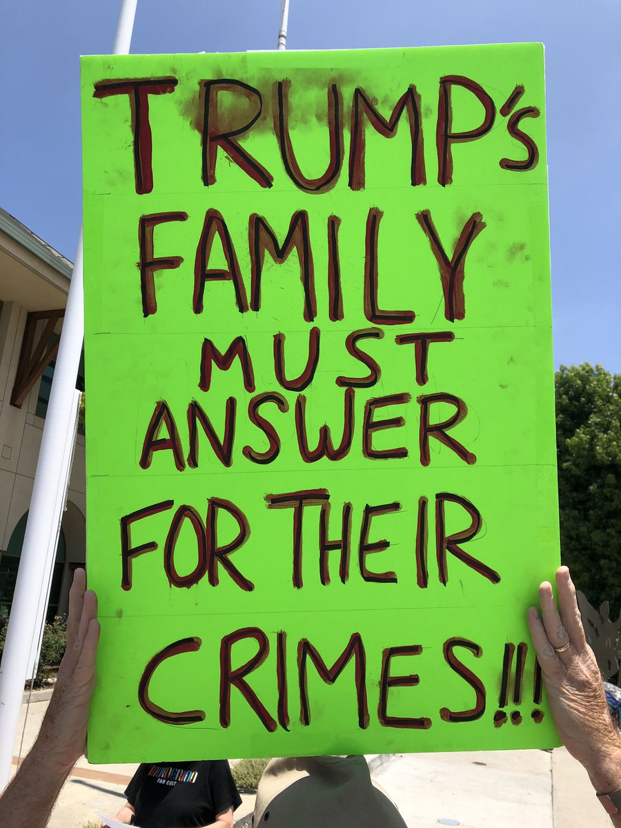 """""""Trump's family must answer for their CRIMES."""" #ImpeachTrumpNow <br>http://pic.twitter.com/p04EVOZRbH"""