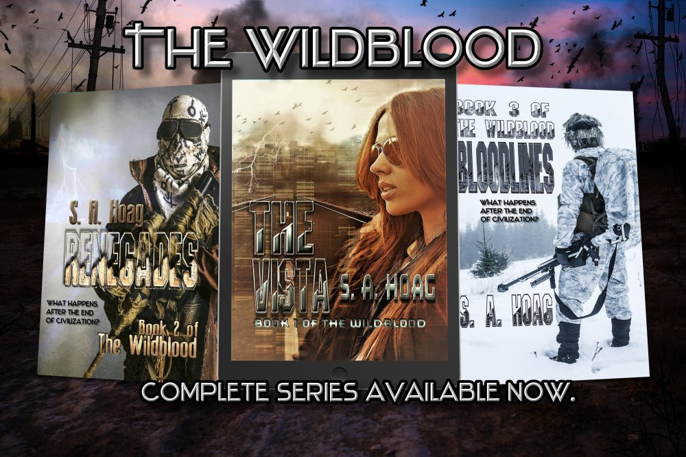 The Wildblood series is complete. What would you do to protect your home? #scifi  #postapocalypse https://www.amazon.com/gp/product/B07F7NPCYV/…
