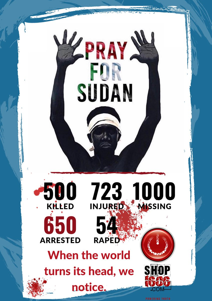Stand for humanity, stand for Sudan. When the world turns its head we notice. RT for awareness #PrayforSudan<br>http://pic.twitter.com/rUA62pa7aP