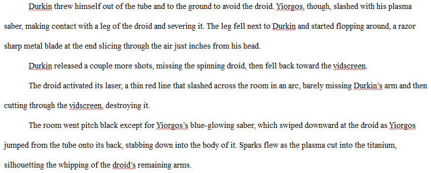 Busy writing another new chapter for my #scifi space opera novel. Feels good. Here's a bit of an action scene.... #amwriting #amwritingscifi