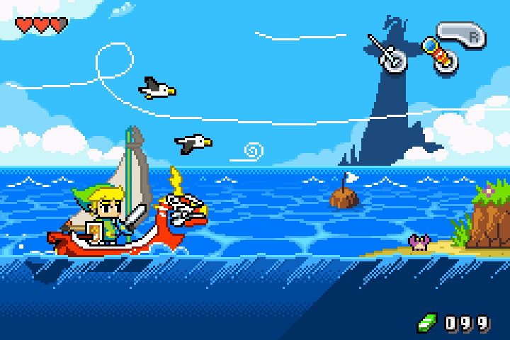 """The #PixelArt of #TheLegendofZelda   """"The Wind Waker GBA Demake""""  Artist: @FrootsyCollins<br>http://pic.twitter.com/GZesdwGLft"""