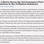 Image for the Tweet beginning: How #Liberty Saves the #Environment
