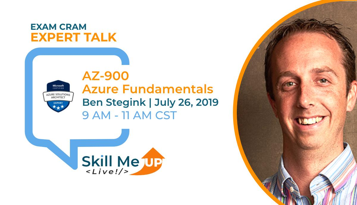 Join us July 26th as #Azure expert, @benstegink, shares best practices and tips and tricks on how to prepare for and pass the AZ-900 exam.  Register today! http://skillmeup.com/Live/ExpertTalk/75…  #Azure #fundamentals #AZ900 #exam #tips