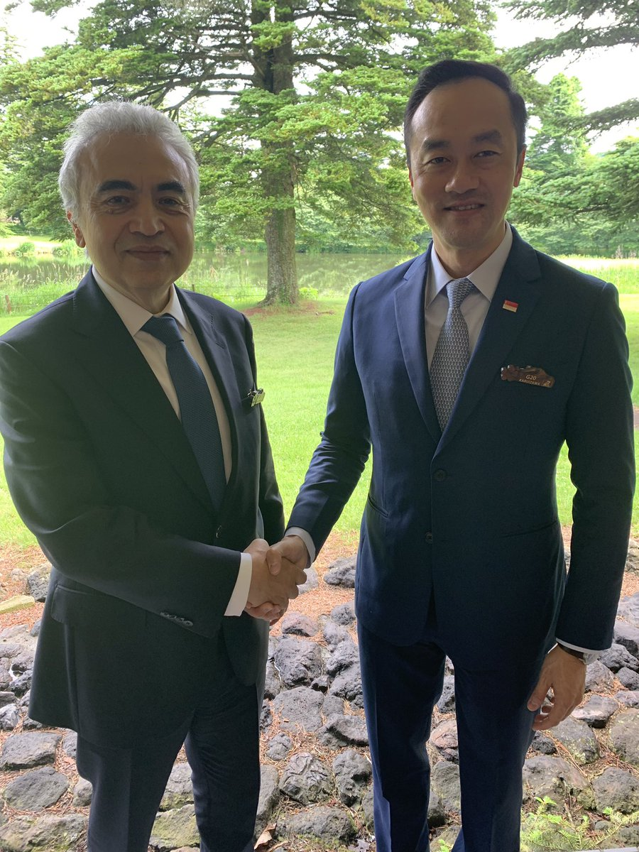 Great pleasure to catch up with Singapore's Senior Minister of State, Dr Koh Poh Koon,  at #G20 in Karuizawa; 🇸🇬- #IEA collaboration has gone from strength to strength since it joined the #IEA Family as an Associate member in 2016