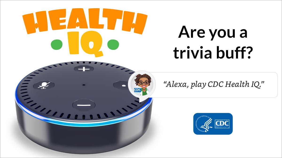 test Twitter Media - Are you a trivia buff? Try #CDCHealthIQ on your Alexa enabled device to challenge your Health IQ & learn while having fun. https://t.co/QCdwGiUfE8 #AskAlexa https://t.co/fPt0zXIal8