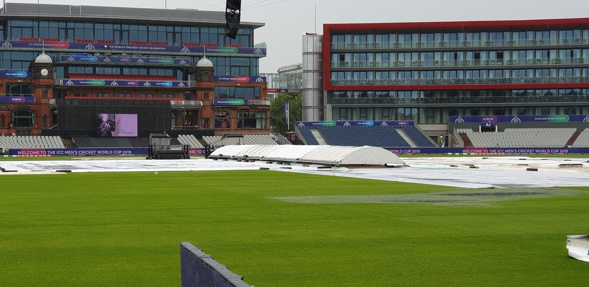 """Sunil Gavaskar """"it's terrible that the full ground is not covered. This is a big tournament and you know the conditions in England and not to have extra covers is absolutely unacceptable"""" #CWC19 #INDvPAK"""