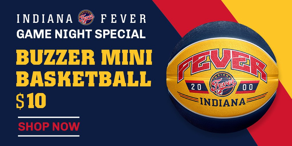 Get this #Fever Mini Basketball for only $10 at the @PacersTeamStore tonight or online ➡️ http://FeverTeamStore.com   #Fever20 #AllForLove