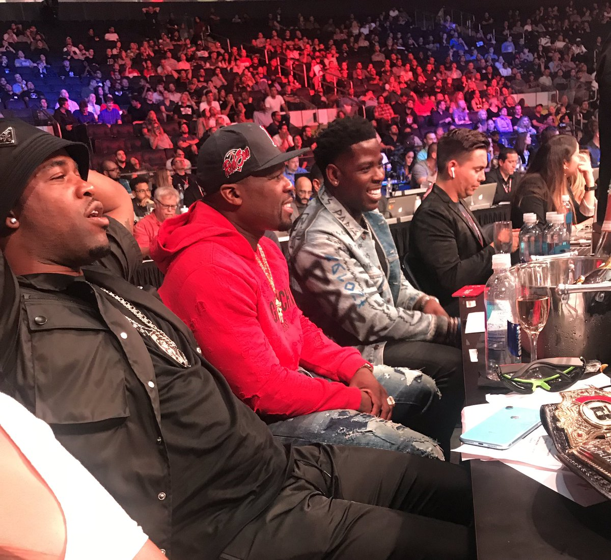 When your NY rap playlist comes to life @ASAPferg @50cent @CASANOVA_2X #Bellator222