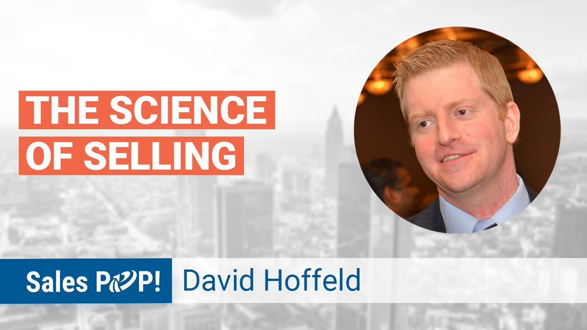 """Best-selling author of """"The Science of Selling"""" @DavidHoffeld joined us for a discussion. WATCH NOW >> https://t.co/P3geDBsJQA #selling #salestips #scienceofselling https://t.co/3YCNR7KOdo"""