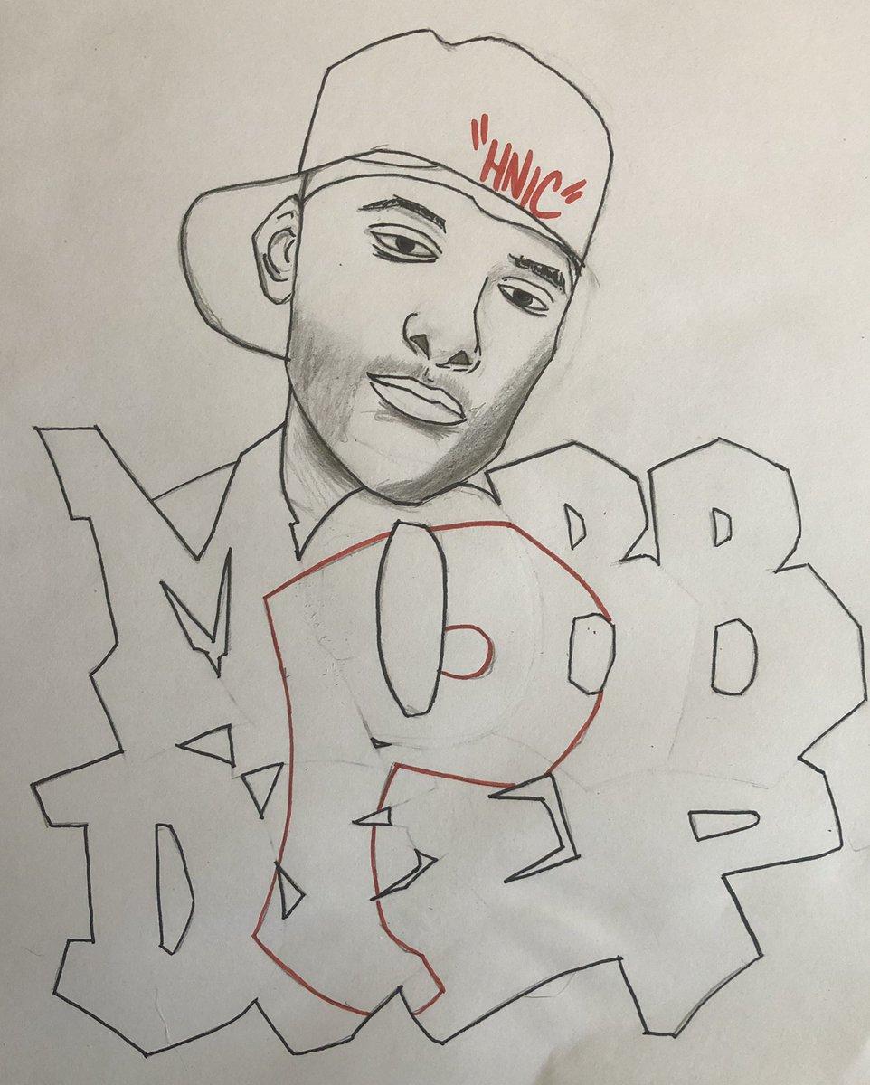 #ArtWork #MobbDeep #HNIC #Prodigy #QueensBridge #Pencildrawing with #marker https://t.co/Gk4uz5XFEv