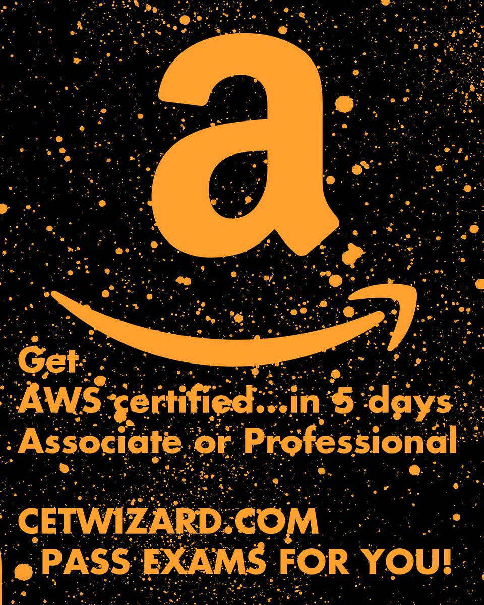 Get AWS certified...in 5 days Associate or Professional  http://CERTWIZARD.COM  PASS EXAMS FOR YOU!  https://certwizard.com/program/amazon-aws-certification …  #amazon #aws #certification #certwizard